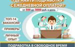лучшая подработка в свободное время с ежедневной оплатой — ТОП-14