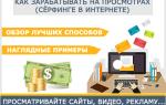 Заработок на просмотрах: рекламы, видео, сайтов!