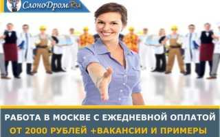 Реальная работа в Москве с ежедневной оплатой для любого от 2000 тыс руб — ТОП 20 идей