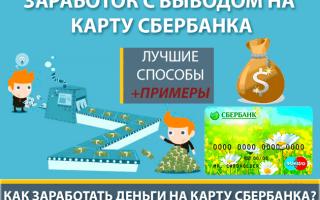 8 лучших идей по заработку и с выводом денег на Сбербанка без вложений