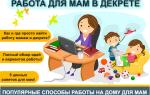 Работа в свободное время. Работа/подработка для мам в декрете на дому – ТОП-30 вакансий